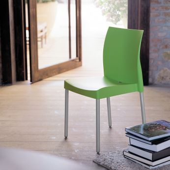 Ice 800 - Stackable chair, green colour