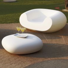 Chubby Low - Slide pouf in polyethylene, different colours, also for garden