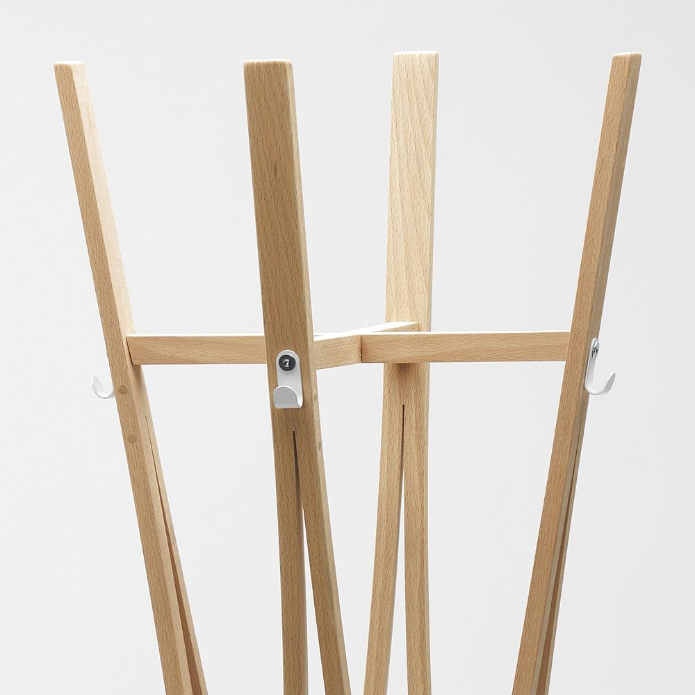 Wodden coat rack, detail