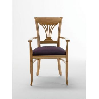 Operetta B - Wooden chair, marc microfibre seat (only on request)