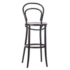 Stool 14 - Ton stool in wood, with wooden seat, seat height of 61 or 76 cm