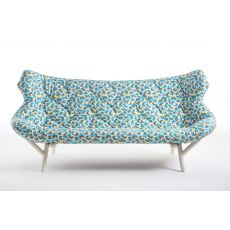Foliage Sofa by Sottsass - Design sofa Kartell goes Sottsass series, 2 seater, with metal frame, different fabrics designed by Ettore Sottsass and Nathalie du Pasquier
