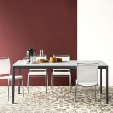 CB4085-ML Snap DP - Tavolo allungabile Connubia - Calligaris in metallo, piano in nobilitato, diverse misure disponibili