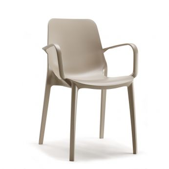 Ginevra P 2333 - Dove grey chair with armrests