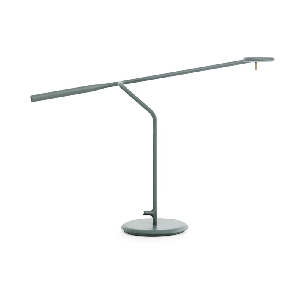 Table LED lamp made of green lacquered steel