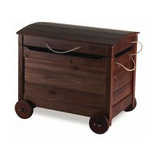 LAR24 - Wooden trunk with wheels, in pine wood, several colours available