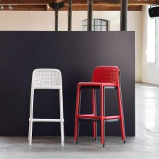 Lido - Polypropylene stool, stackable, available with several seat's height, also for garden