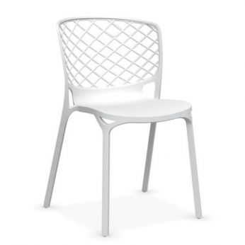 CB1459 Gamera - Stackable chair made of optic white nylon, also for garden