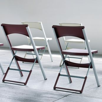 Compact - Folding chair in aluminum and technopolymer