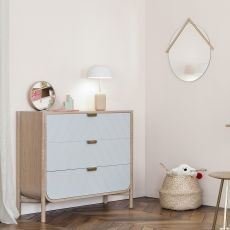 Marius C - Chest of drawers in wood, with three drawers