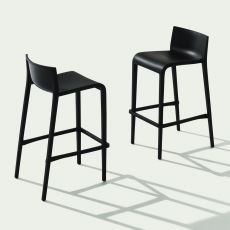 Nassau S - Design stool in polypropylene, stackable, available in several heights, also for outdoor
