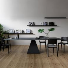 Landing - Infiniti fixed table in metal and MDF, different sizes available