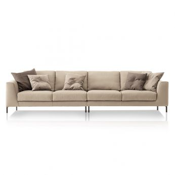 Chennai Maxi 6 Seater Sofa With Leather Cover