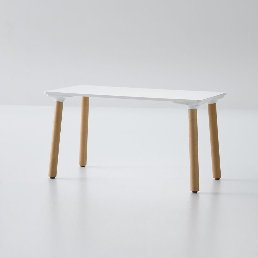 Coffee table with rectangular top, white colour