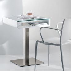 Multifunzionale - Pedrali table or desk, made of stainless steel, wood and glass, different finishings available