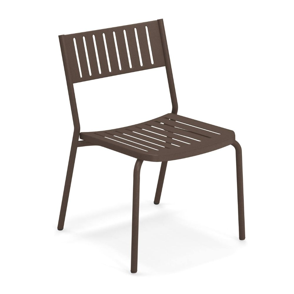 Metal chair in India brown varnished