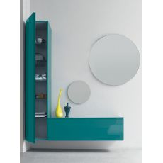 Logika 1 - Entrance furniture with two mirrors, available in several colours