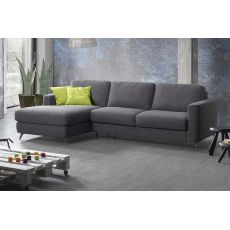 Fiordaliso-A - 2, 3 or 3XL seaters sofa, with peninsula, totally removable covering, different upholsteries and colours available, also sofa bed