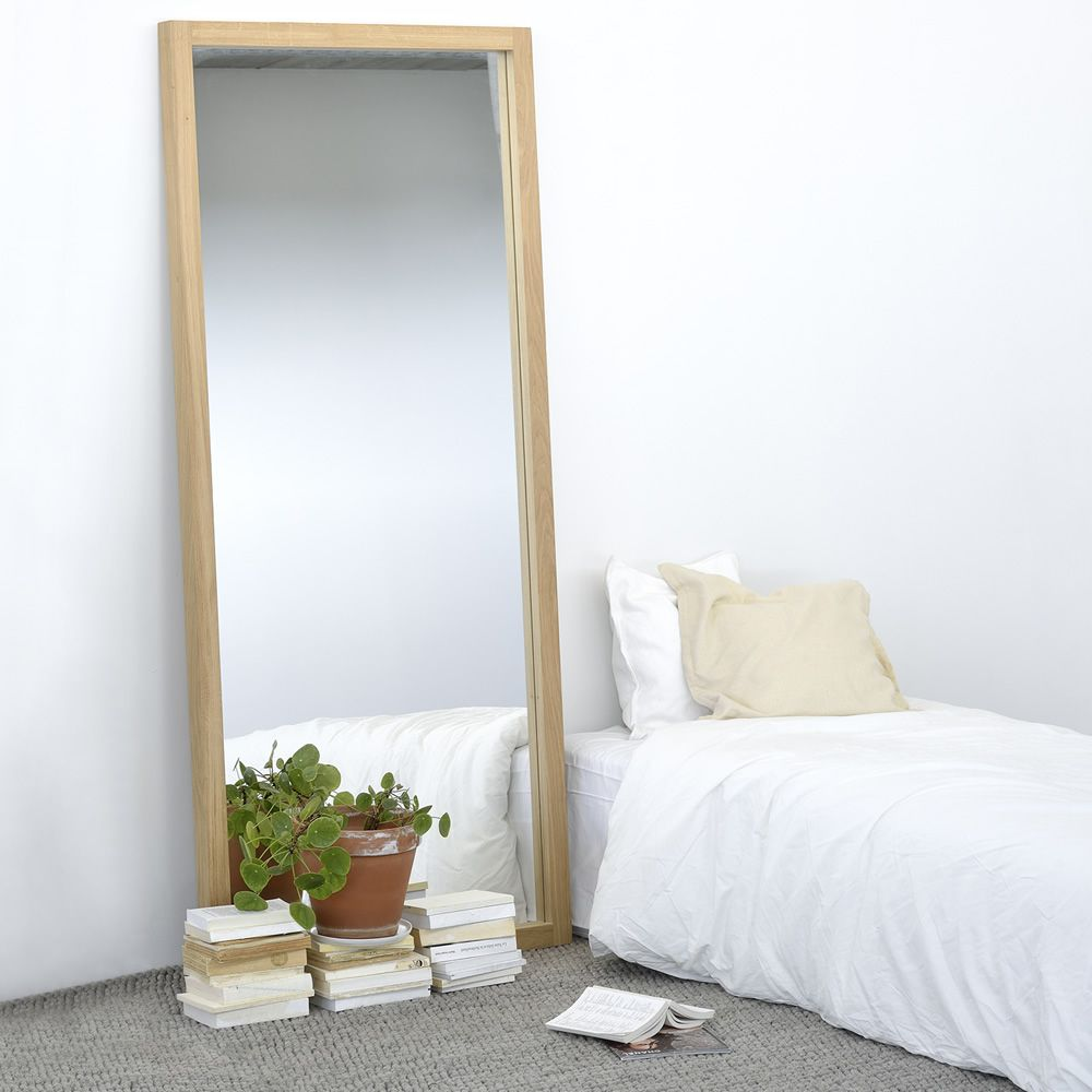 Mirror with oak frame