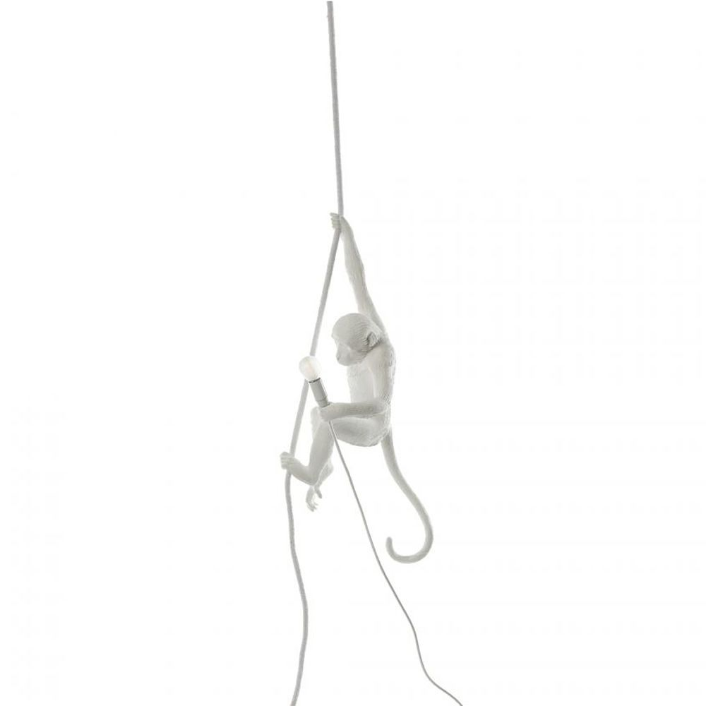 Seletti design suspension lamp, in resin, in the shape of a monkey, with Led
