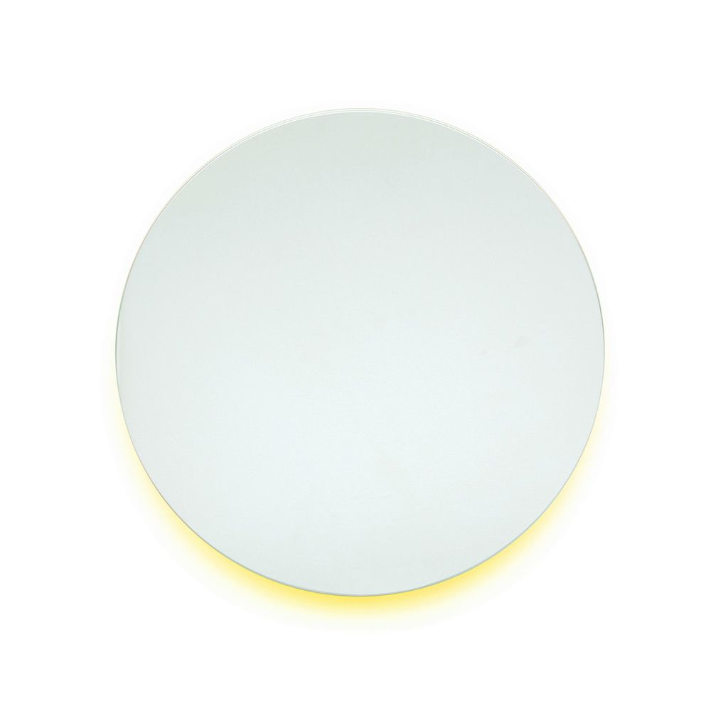 Round wall mirror, in yellow colour (Size: XS)
