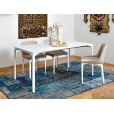 Armando-A - Midj extendable metal table with metal or melamine top, top 160x100 cm