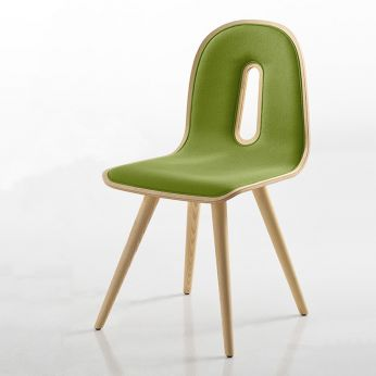 Gotham Woody W Soft - Ash wood chair with natural finish and fabric cushion
