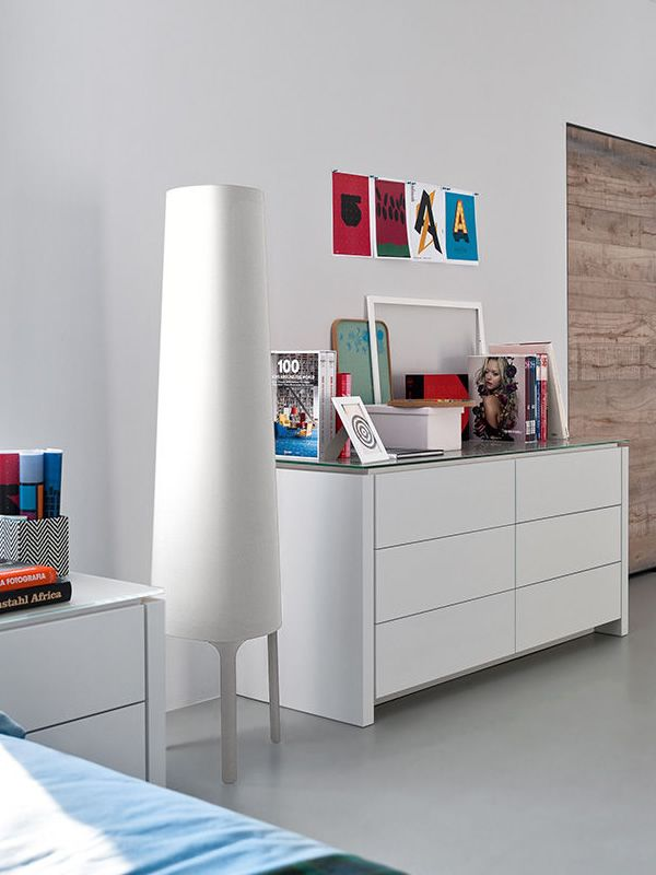 Floor lamp by Calligaris, white colour