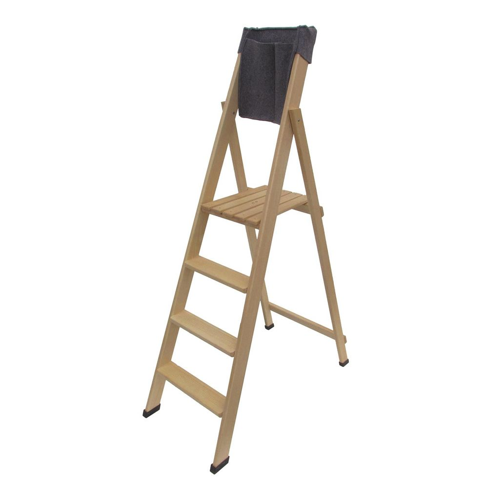 Folding ladder in solid beech wood S