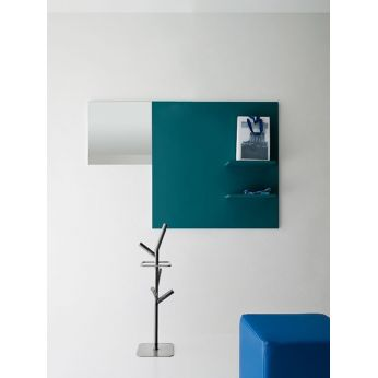 Cinquanta 7 - Hanging entrance furniture in Finland green colour, matching with Tree umbrella stand (on request)