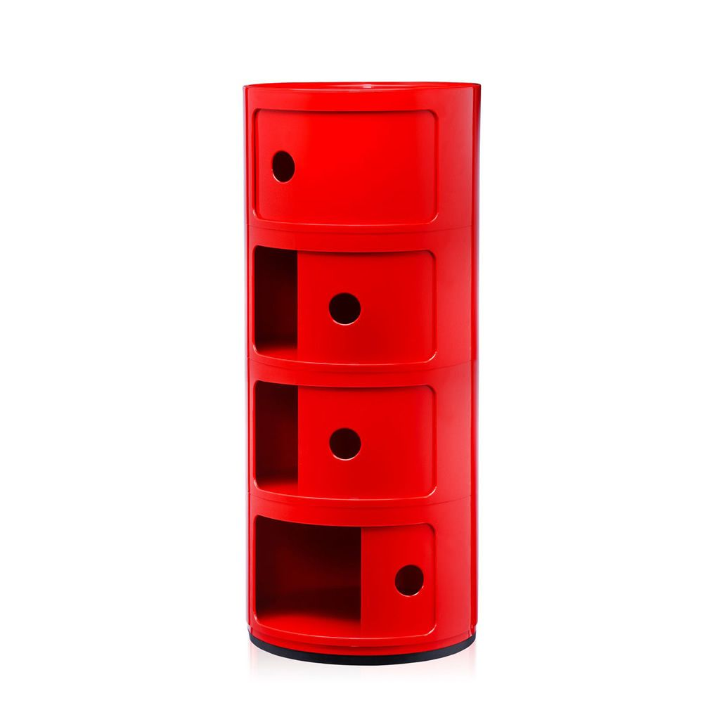 Design Kartell container, red colour