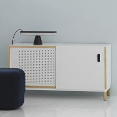 Kabino-S - Normann Copenhagen sideboard - living room furniture made of wood and MDF, doors and drawers in aluminium, different colours and sizes available