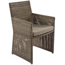 Nemi - Armchair in rattan, several colours, with cushion, also for garden