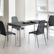 Energy-130 - Domitalia metal table, different tops available, 130 x 90 cm extendable