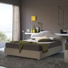 Vanity - Padded double bed, several coverings available, removable covering, also with storage box