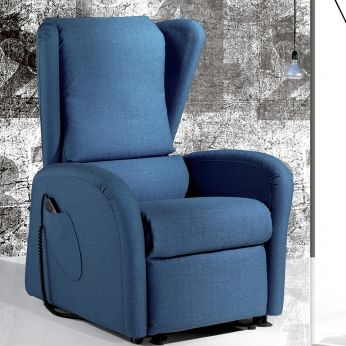 Campanula - Electric and adjustable relax armchair with Lift mechanism, different upholsteries and colours available, totally removable covering, also with Roller system and massage kit
