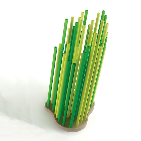 Green colour umbrella stands