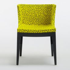 Mademoiselle Memphis by Sottsass - Design small armchair Kartell goes Sottsass series, in polycarbonate, with upholstered seat realized with different fabrics designed by Ettore Sottsass and Nathalie du Pasquier
