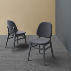 CS1491 Colette G - Calligaris wooden chair, seat covered with fabric