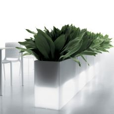 Kado - Pedrali planter or divider, in polyethilene, height 80 or 100 cm, also for outdoor