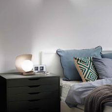FA3414DT - Table lamp in metal and blown glas, LED lightning
