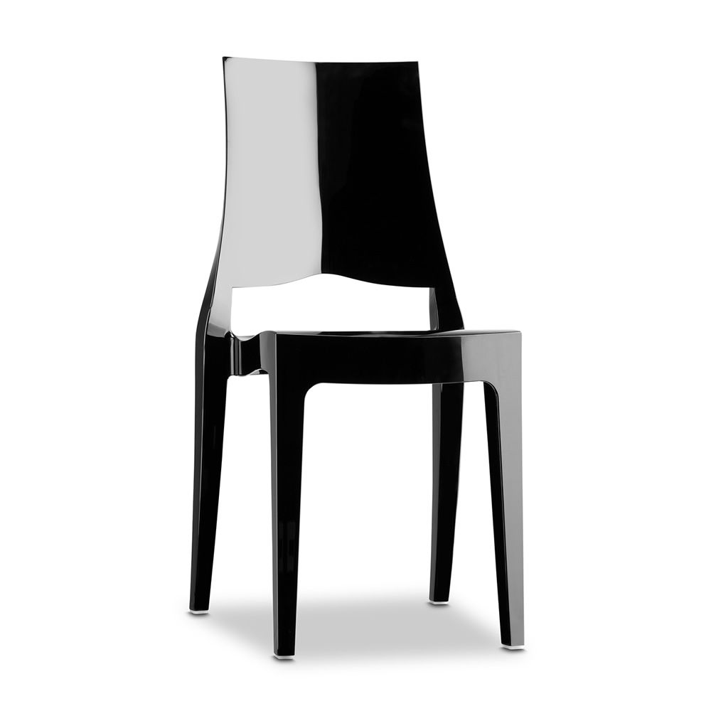 Polycarbonate chair in black full colour