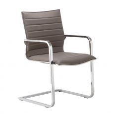 Diva Host - Guest chair for executive office, available in fabric leather or imitation leather