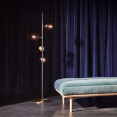 Orb - Floor LED lamp, in metal and glass