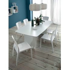 Stone-R - Domitalia garden table in polyethylene and laminate, different sizes available