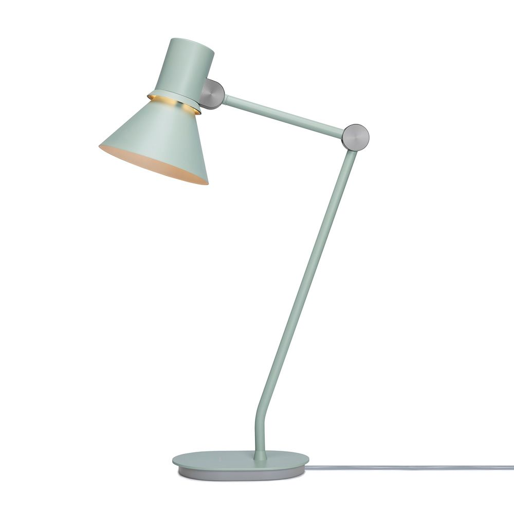 Table lamp in metal, green colour