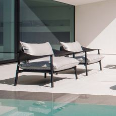 Terramare 729 - Emu armchair made of aluminium and eco-leather, with cushions, also for garden