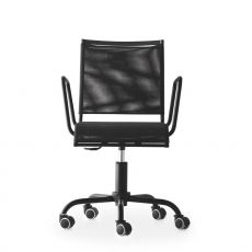 CS1474 Web Race N - Calligaris office chair, swivel and adjustable in height, in metal and net, with wheels