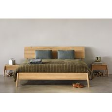 Air - Ethnicraft double bed with wooden frame, different sizes available