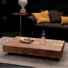 Box legno - Modern table in metal, 120x75 cm top, extendable